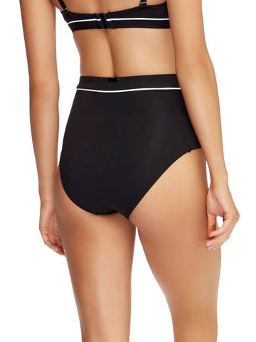 JETS Classique High Waist Bottoms Black/White