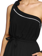 JETS Classique One Shoulder Dress Black, view 3, click to see full size