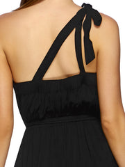 JETS Classique One Shoulder Dress Black, view 4, click to see full size