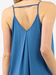 Koy Resort Laguna Mini Dress Soft Indigo, view 3, click to see full size
