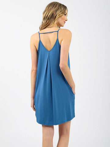 Koy Resort Laguna Mini Dress Soft Indigo