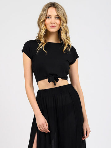 Koy Resort Laguna Tie Knot Top Black