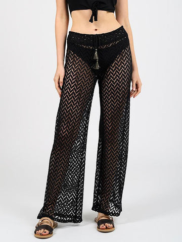 Koy Resort Zuma Wide Leg Pant Black