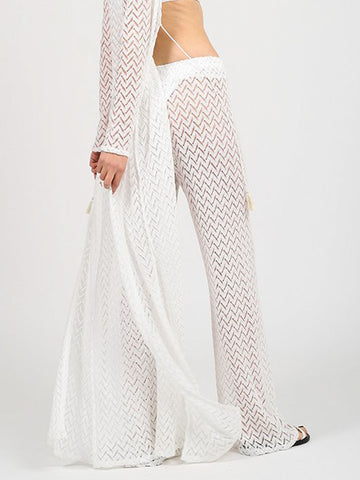 Koy Resort Zuma Wide Leg Pant White