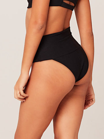 L*Space Off the Grid Desi Bottom in Black