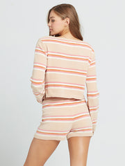 L*Space Sun Seeker Short in Stripe, view 2, click to see full size
