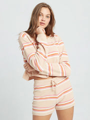L*Space Sun Seeker Short in Stripe, view 4, click to see full size