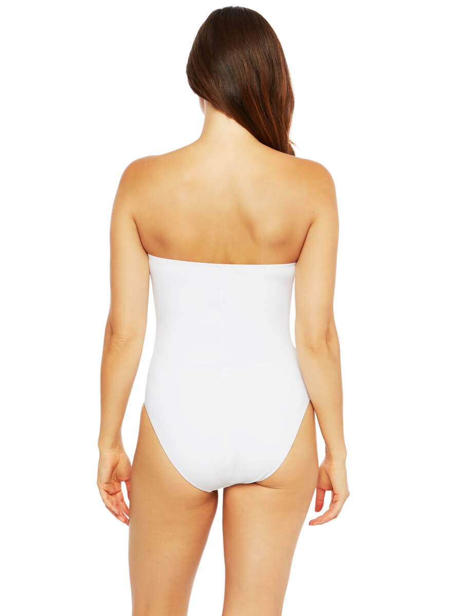La Blanca Let's Duet Bandeau One Piece White