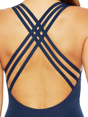 La Blanca Let's Duet Crossback One Piece Indigo