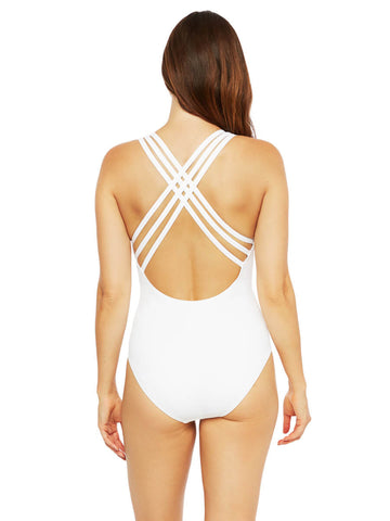 La Blanca Let's Duet Crossback One Piece White