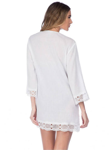 La Blanca Island Fare V Neck Tunic White