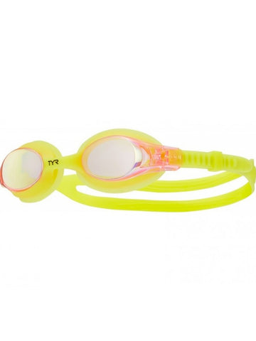 TYR Junior/Youth Swimple Goggles Pink/Lemon