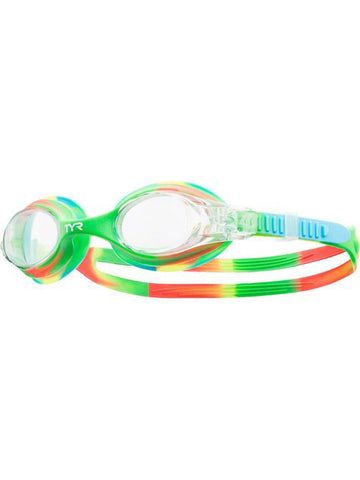 TYR Kids Swimples Tie Dye Goggles Green/Orange