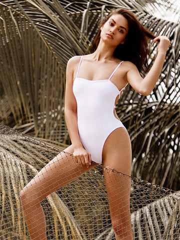 Beach Bunny Luna One Piece White