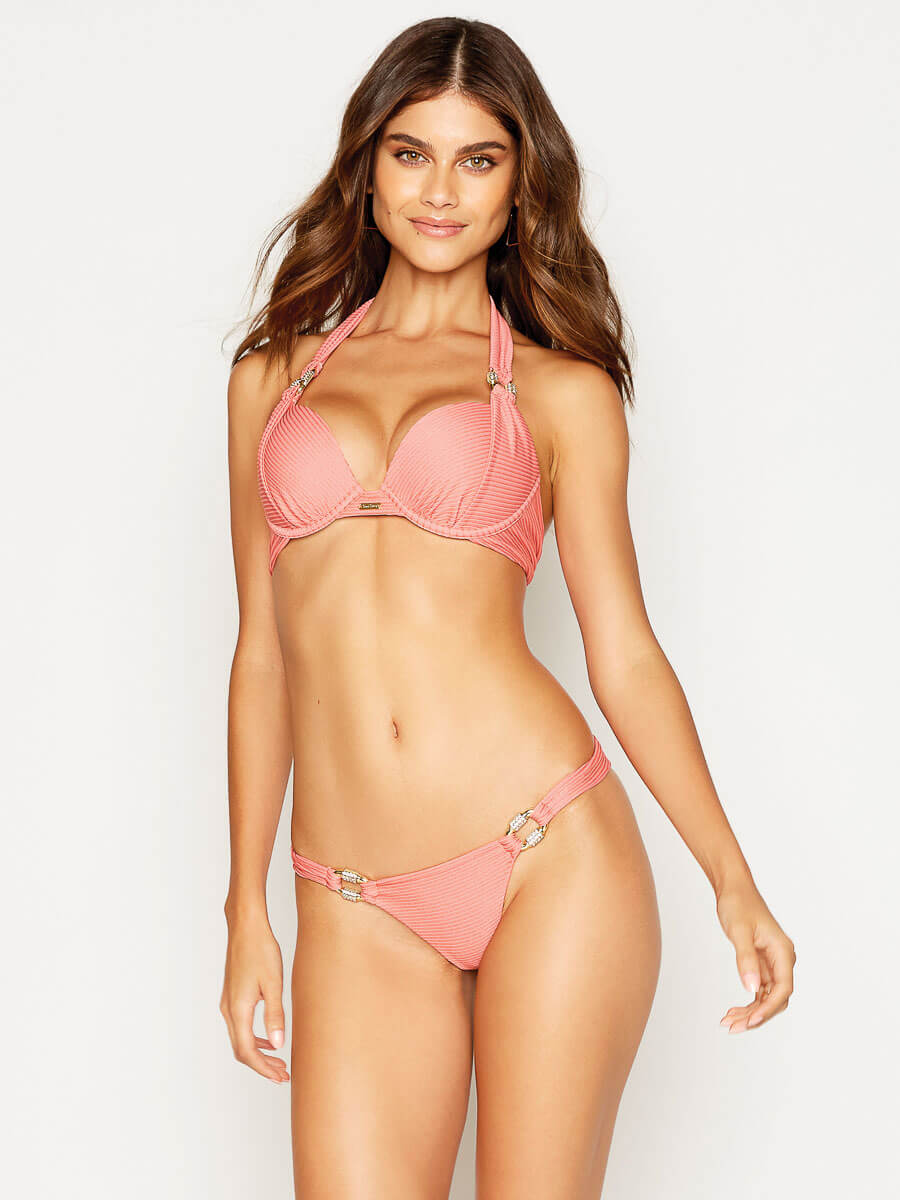 Beach Bunny Madagascar Glam Push Up Top Rose