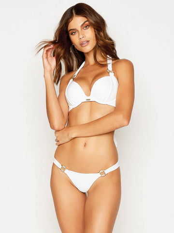 Beach Bunny Madagascar Glam Push Up Top White
