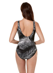 Miraclesuit Night Flight Crossover One Piece Black/White