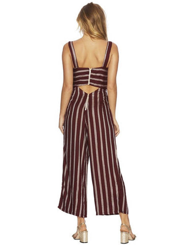 Beach Riot Moon Beam Owen Romper Maroon