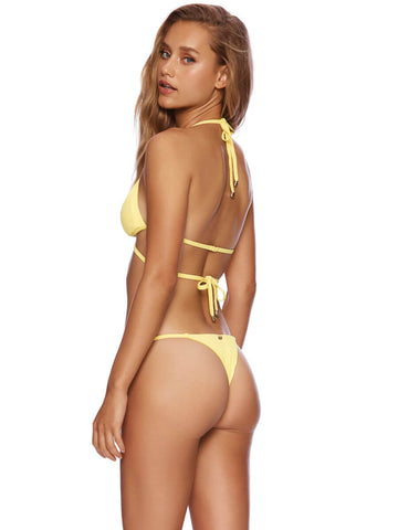 Beach Bunny Renegade Wrap Top Lemon