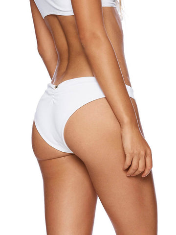 Beach Bunny Rib Tide Skimpy Bottom White