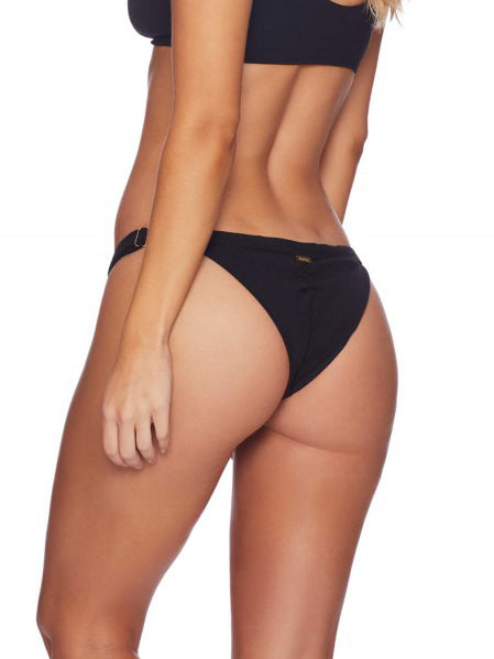 Beach Bunny Rib Tide Skimpy Bottom Black