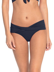 Robin Piccone Ava Twist Bottom Navy, view 1, click to see full size