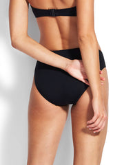 Seafolly Seamless Hipster Power Net Black, view 2, click to see full size