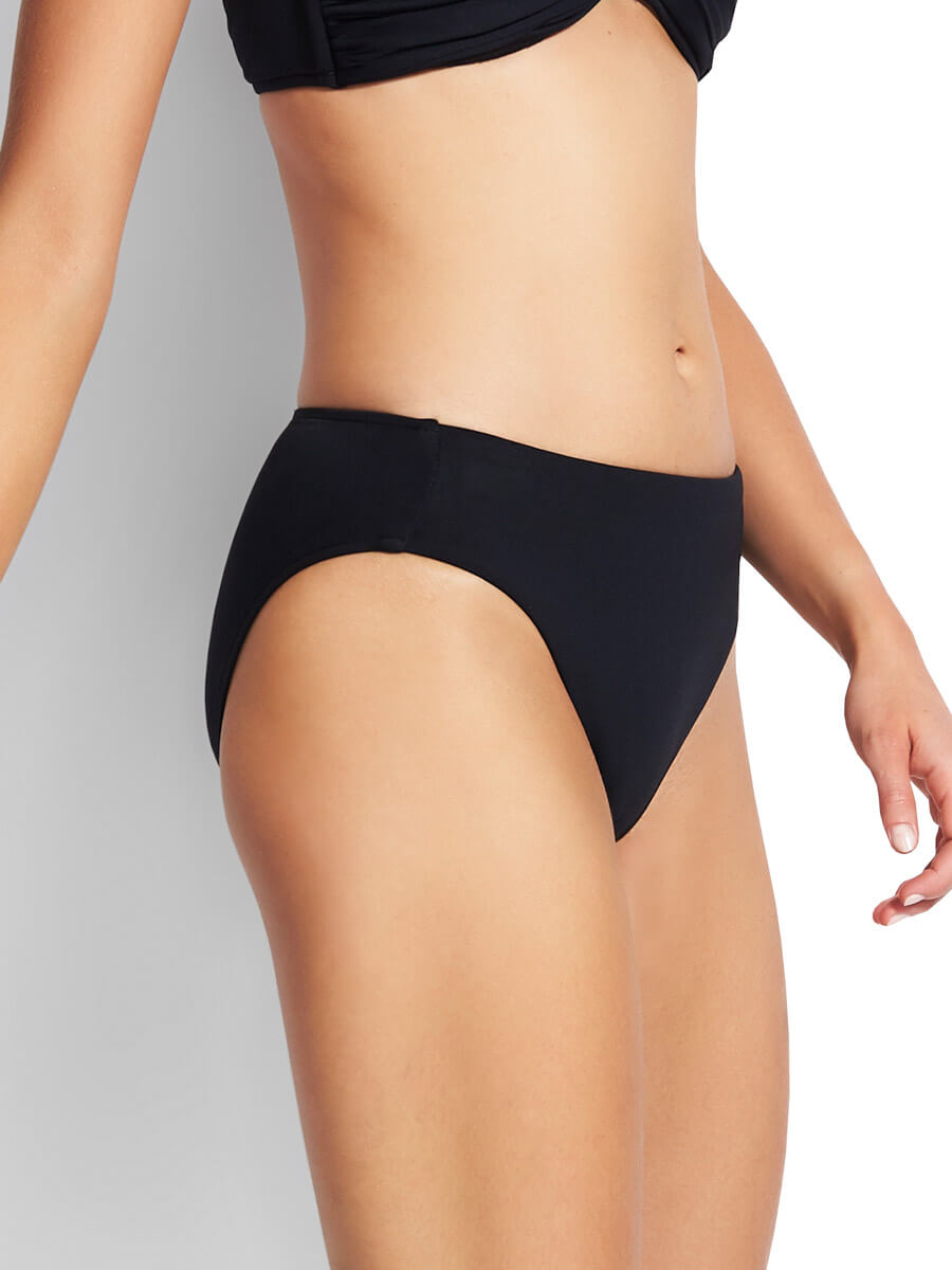 Seafolly Seamless Hipster Power Net Black