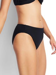 Seafolly Seamless Hipster Power Net Black, view 3, click to see full size