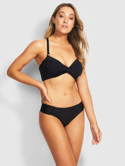 Seafolly DD Twist Front Bra Black