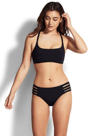 Seafolly Active Multi Strap DD Bralette Black