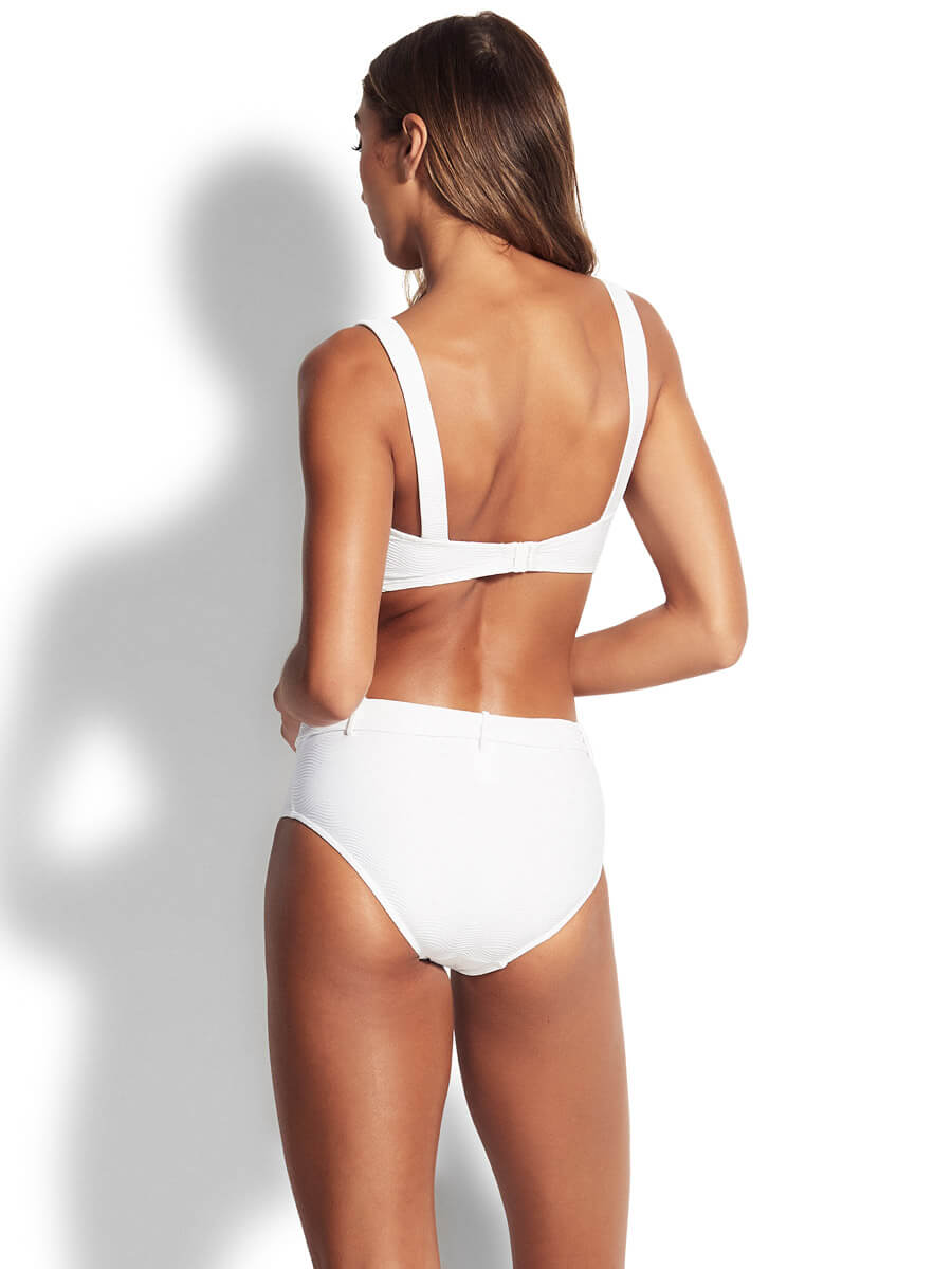 Seafolly Capri Sea DD Bandeau Bra White