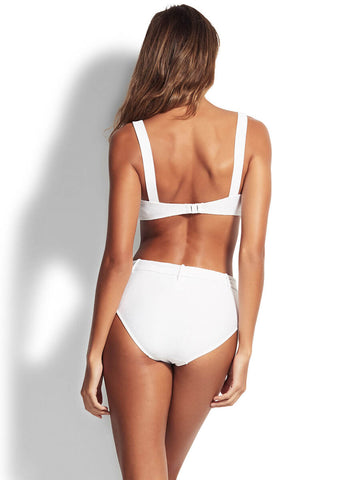 Seafolly Capri Sea Bandeau Bra White