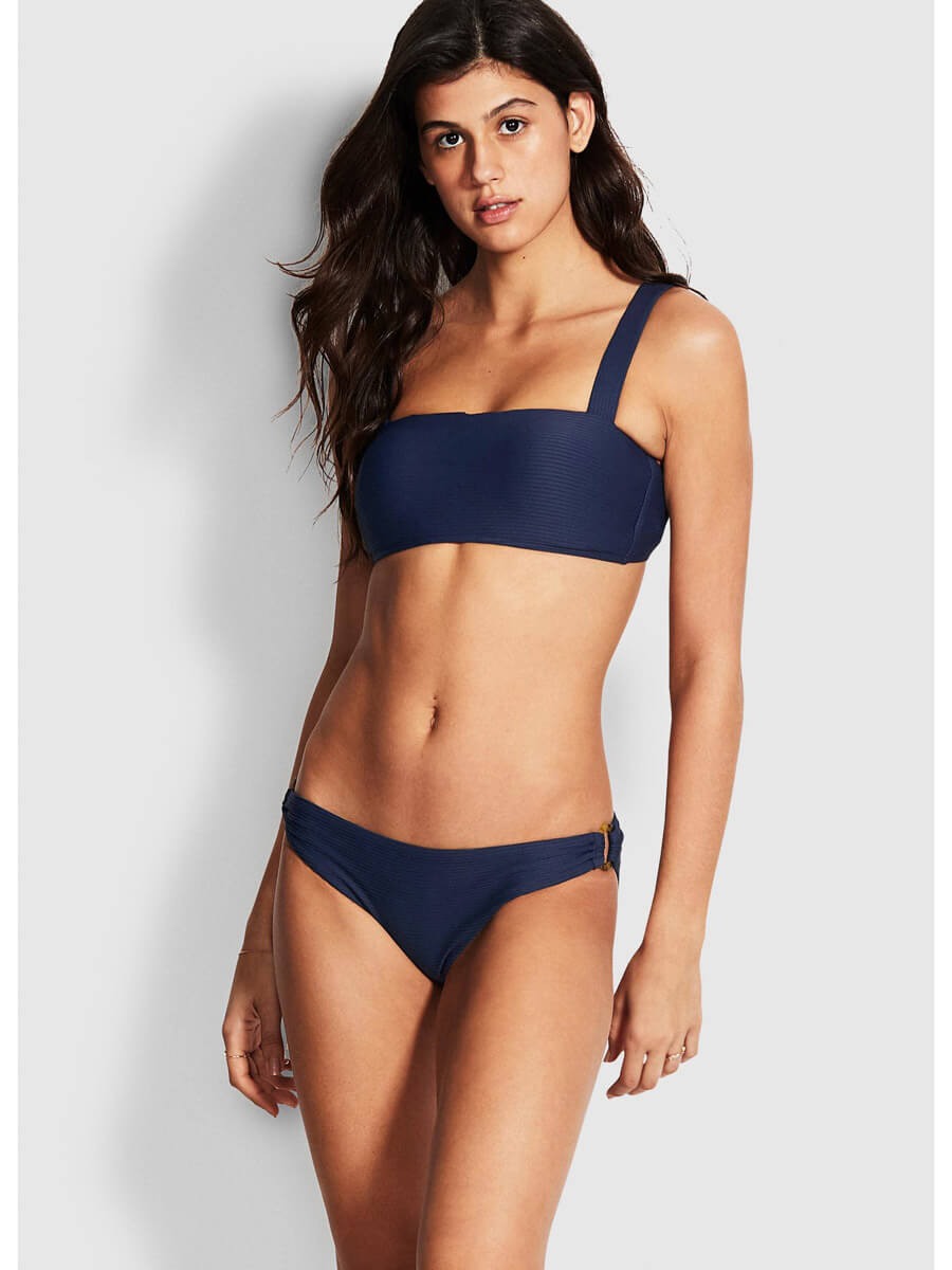 Seafolly Summer Sea Bandeau Bra Indigo