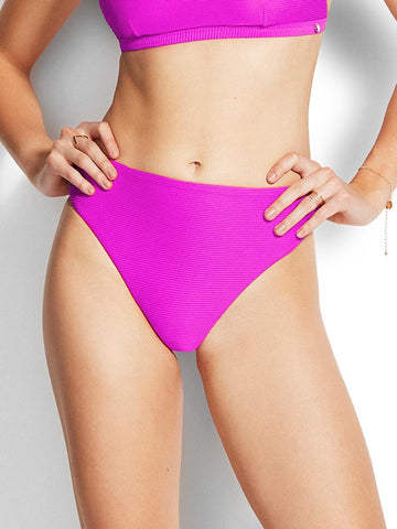 Seafolly Essentials High Waisted Bottom Purple Haze