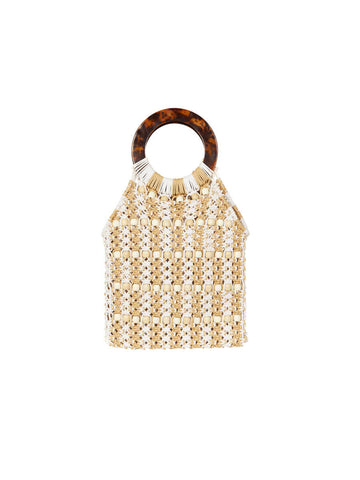 Seafolly Beaded Crochet Bag Multicolor