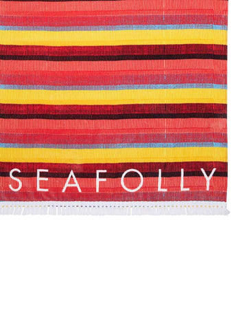 Seafolly Baja Stripe Towel Saffron