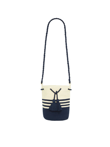 Seafolly Stripe Bucket Bag Indigo
