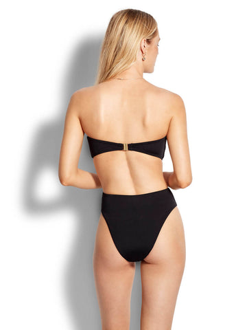 Seafolly Active Rectangle Trim Bandeau In Black