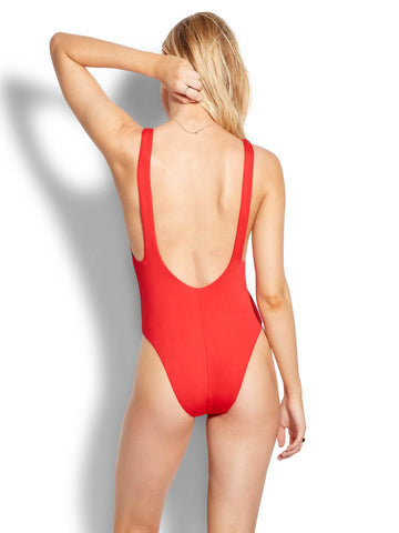 Seafolly Active Retro Tank Maillot In Chilli