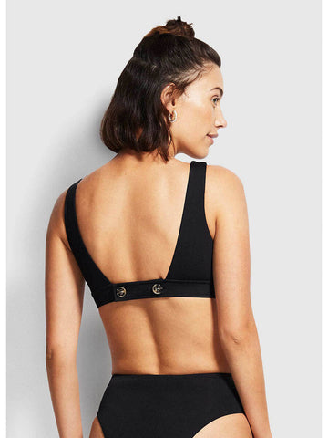 Seafolly Active Tank Bra In Black