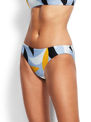 Seafolly Aloha Hipster Steel Blue, view 3, click to see full size