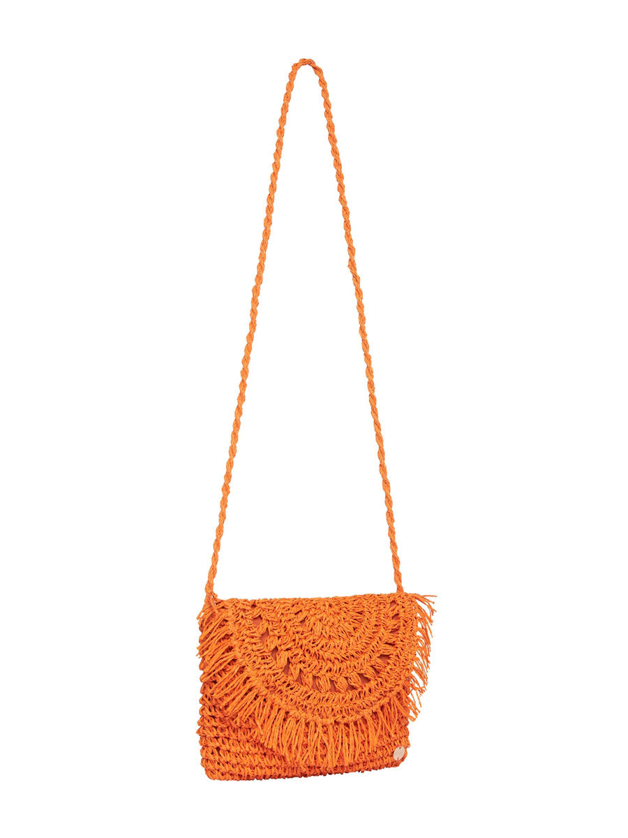 Seafolly Crochet Clutch In Tangerine