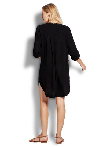 Seafolly In The Jungle Essential Cover Up In Black