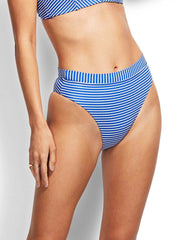 Seafolly Go Overboard High Rise Rio Bottom Cobalt, view 1, click to see full size