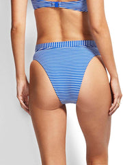 Seafolly Go Overboard High Rise Rio Bottom Cobalt, view 2, click to see full size