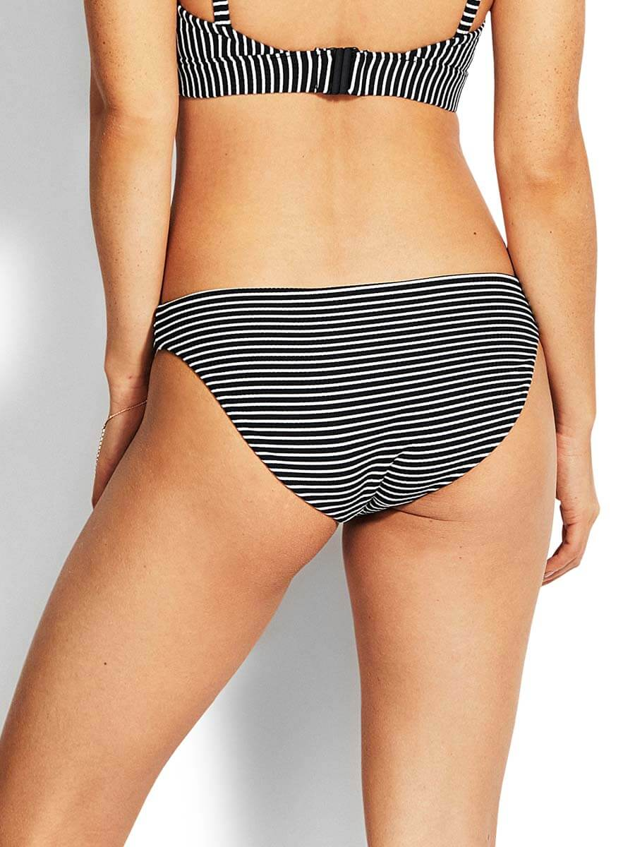 Seafolly Go Overboard Retro Bottom Black