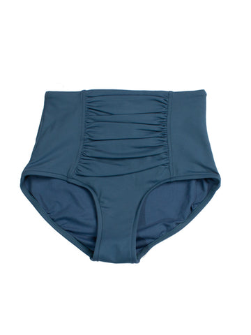 Seafolly High Waist Bottoms Peacock Blue