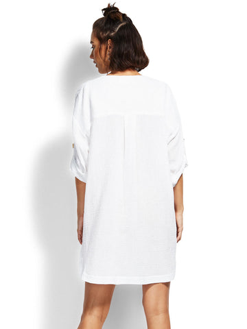 Seafolly In the Jungle Essential Cover Up White