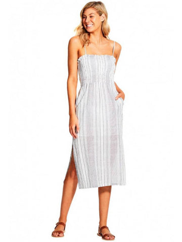 Seafolly Mona Stripe Midi Dress Black/White